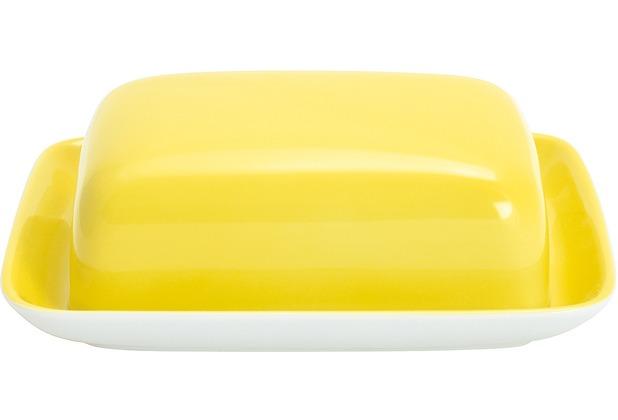 Kahla Einzelteile Butterdose, eckig zitronengelb