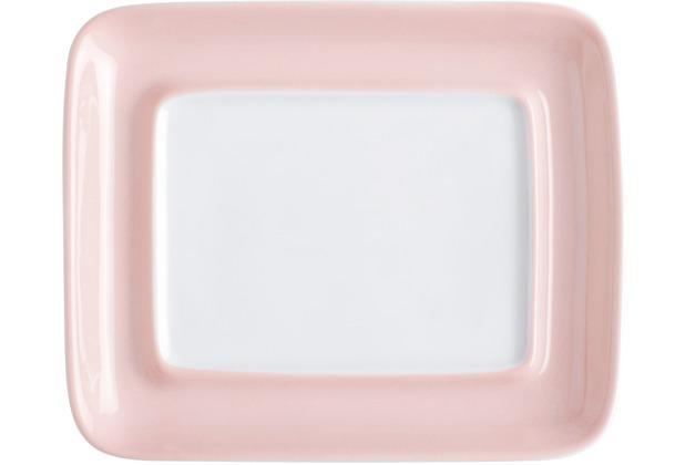 Kahla Einzelteile Oberteil zur Butterdose, eckig rosé