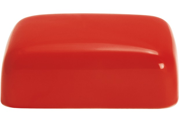 Kahla Einzelteile Oberteil zur Butterdose, eckig rot
