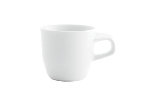 Kahla Elixyr Kaffee-Obertasse 0,20 l bordglasiert weiß