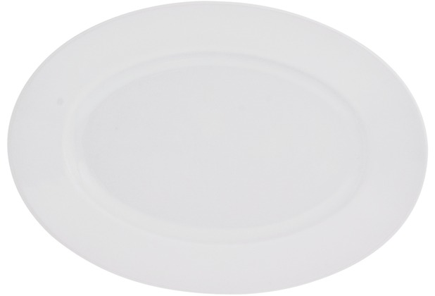 Kahla Fahne Platte oval 23 cm weiß