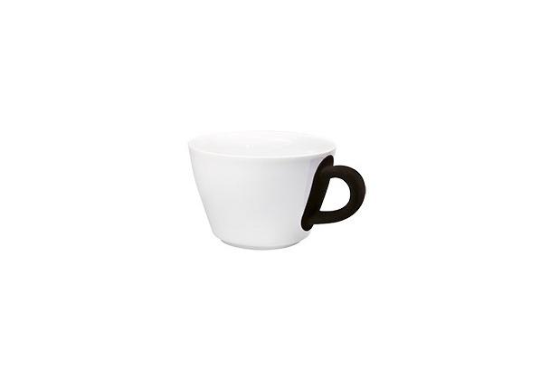 Kahla Five Senses Cappuccino-Obertasse 0,25 l bordglasiert touch! schwarz