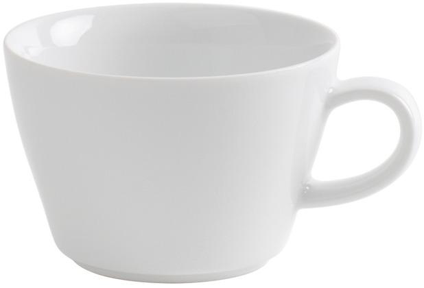 Kahla Five Senses Cappuccino-Obertasse 0,25 l bordglasiert weiß