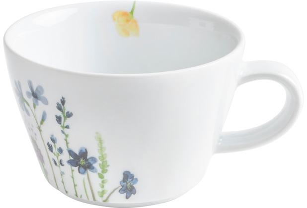 Kahla Five Senses Cappuccino-Obertasse 0,25 l bordglasiert Wildblume blau/rot