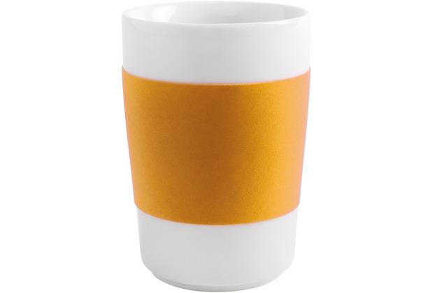 Kahla Five Senses Maxi-Becher 0,35 l touch! orange-gelb