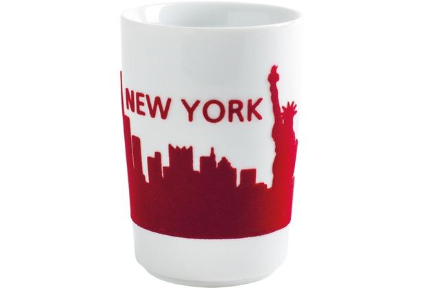 Kahla Five Senses Maxi-Becher 0,35 l touch! rot New York