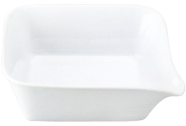 Kahla Five Senses Mini Backform + Menüplatte 17x17 cm weiß