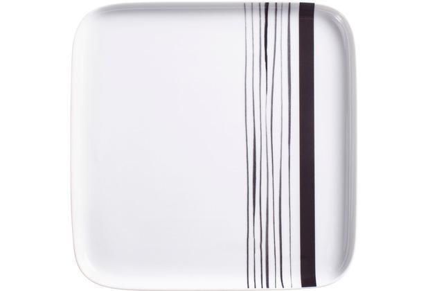 Kahla Flavoured Moments Tablett quadratisch 24x24 cm Black Stripes