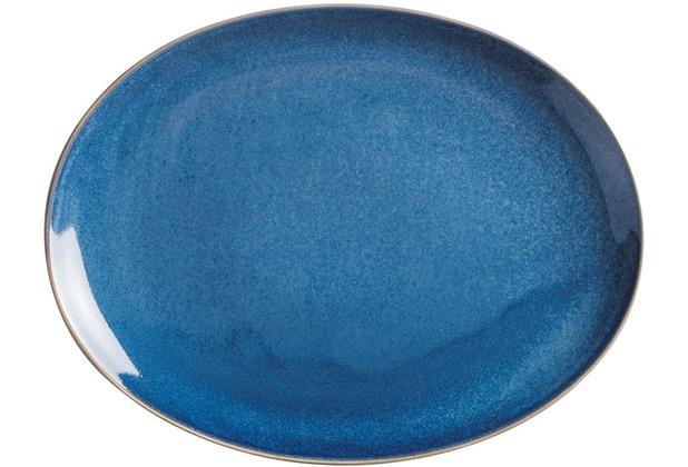 Kahla Homestyle Platte, oval 32 cm atlantic blue