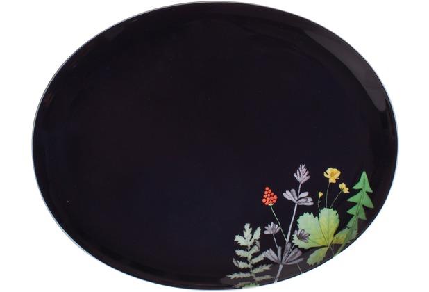 Kahla Jazz Platte, oval 28 cm Moon Meadow