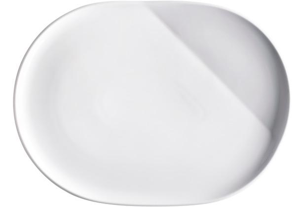 Kahla O - The better place Platte, oval 32 cm weiß