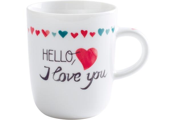 Kahla Pronto Becher 0,35 l I Love You