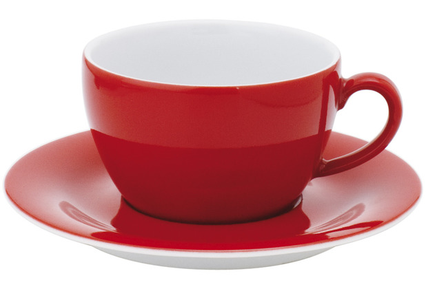 Kahla Pronto Cappuccino-Obertasse 0,25 l rot