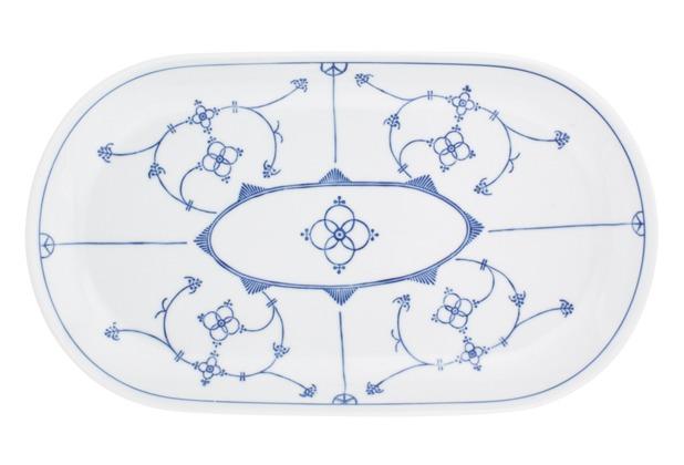 Kahla Tradition Blau Saks Platte, oval 32 cm