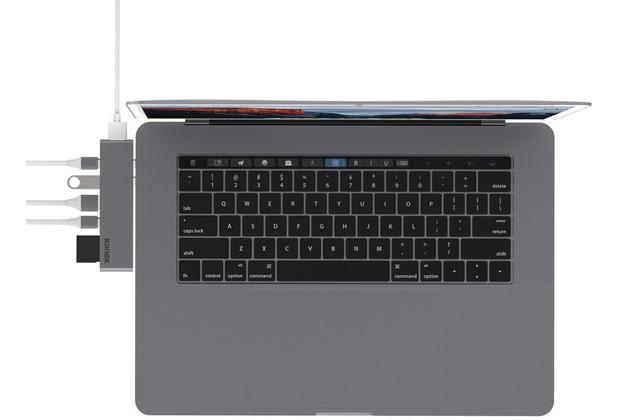 Kanex 7-Port USB-C Hub, Apple MacBook Pro 13/15 (2016 - 2019), space grau, K172-1041-SDC