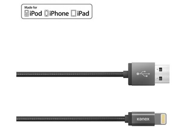 Kanex DuraFlex Charge/Sync-Kabel - Lightning auf USB-A - 1,2m - space grau