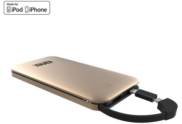 Kanex GoPower Power Bank - Micro-USB & Lightning - 8000mAh - gold