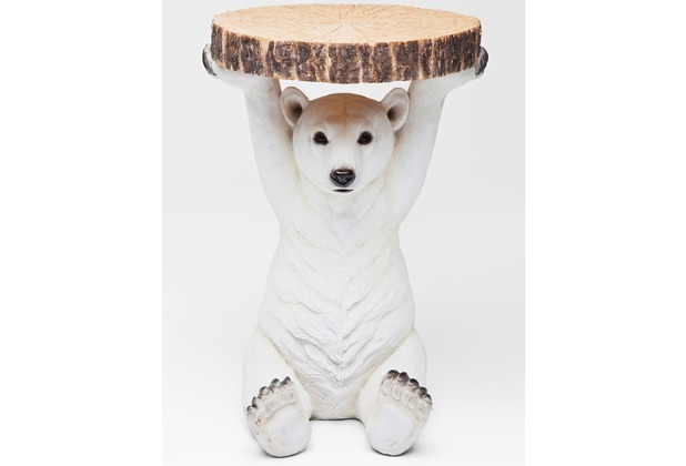 Kare Design Beistelltisch Animal Polar Bear Ø37cm