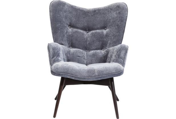 Kare Design Armchair Vicky Velvet Grey