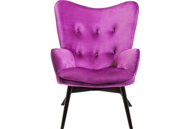 Kare Design Armchair Vicky Velvet Purple