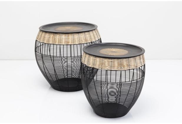 Kare Design Beistelltisch African Drums (2/Set)