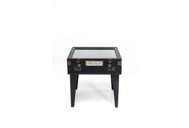 Kare Design Beistelltisch Collector Schwarz 55x55cm