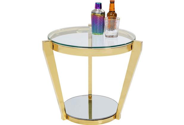 Kare Design Beistelltisch Monocolo Gold Ø50