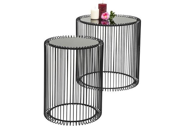 Kare Design Beistelltisch Wire Black (2/Set)