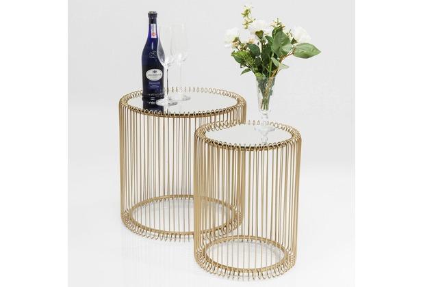 Kare Design Beistelltisch Wire Messing (2/Set) Ø44cm