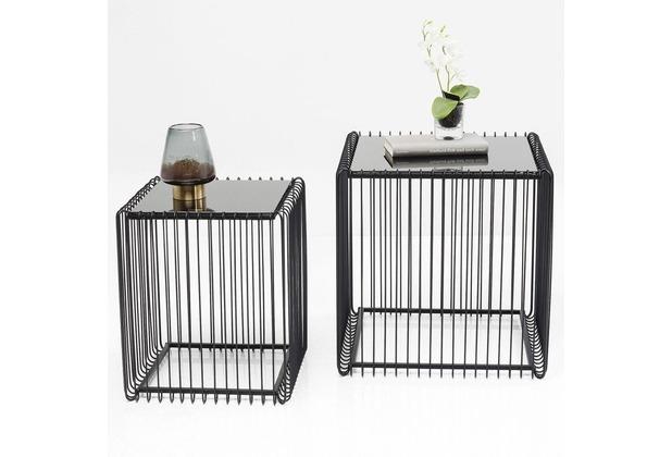 Kare Design Beistelltisch Wire Square Schwarz (2/Set)