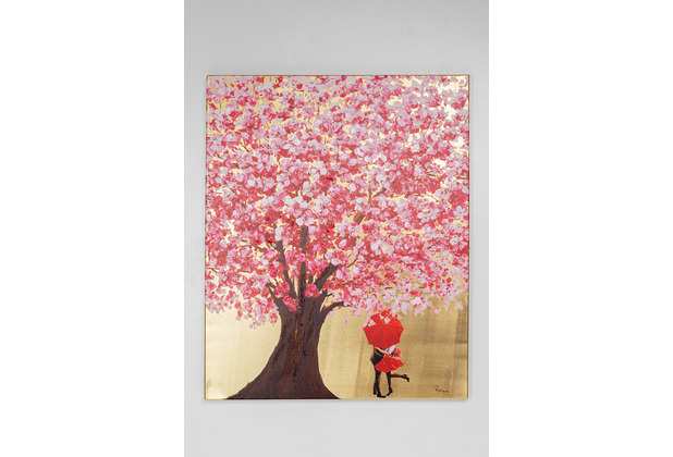 Kare Design Bild Touched Flower Couple Gold Pink 100x80cm