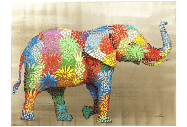 Kare Design Bild Touched Flower Elefant 90 x 120 cm