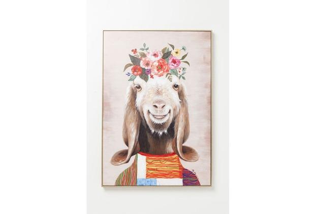 Kare Design Bild Touched Flowers Goat 102x72cm