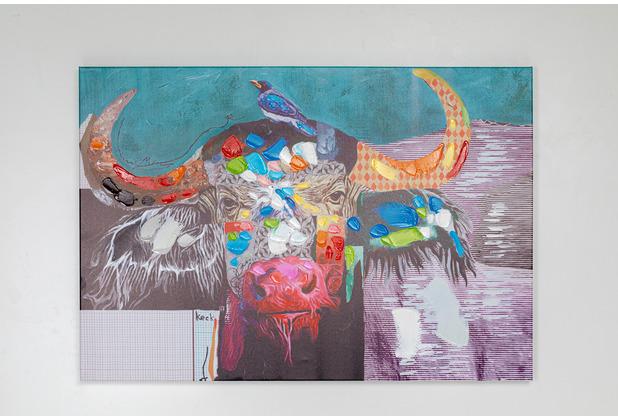 Kare Design Bild Touched Wildlife Buffalo 70x100cm