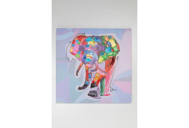 Kare Design Bild Touched Wildlife Elephant 80x80cm