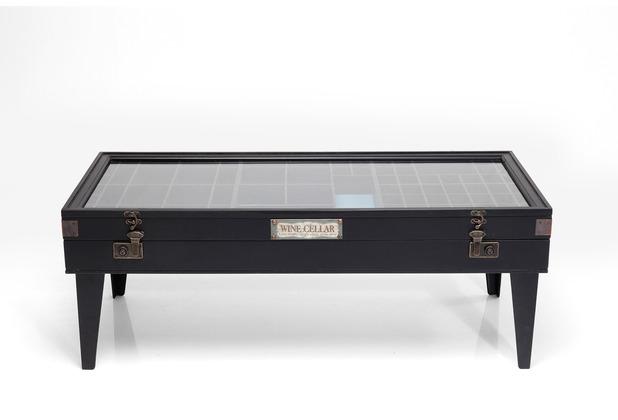 Kare Design Couchtisch Collector Schwarz 122x55 cm