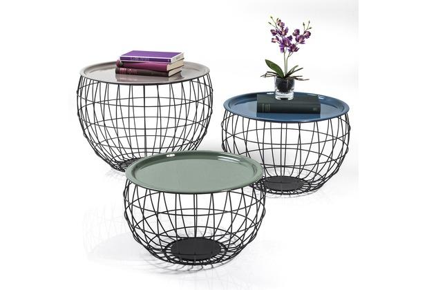 Kare Design Couchtisch La Costa Wire (3/Set)