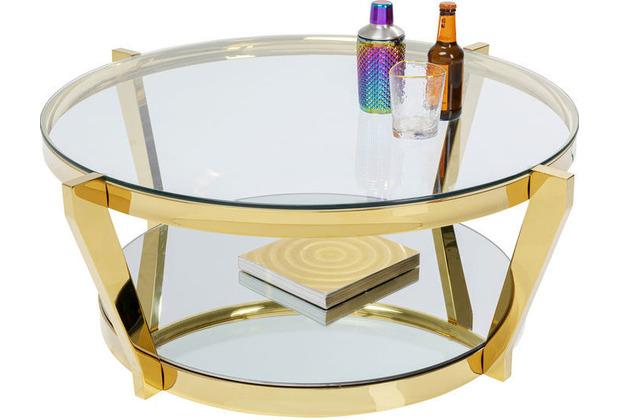 Kare Design Couchtisch Monocolo Gold Ø90