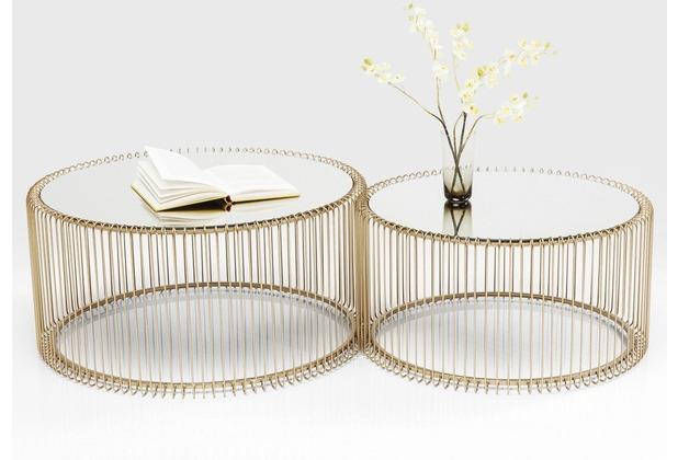 Kare Design Couchtisch Wire Messing (2/Set)