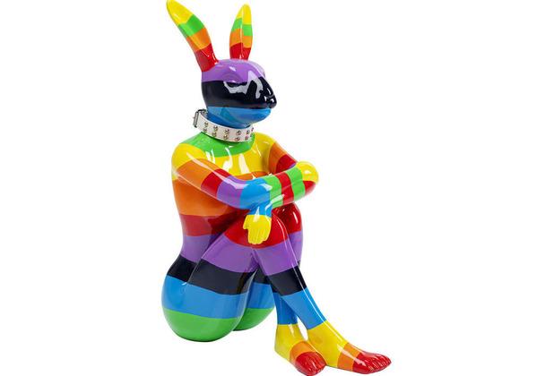 Kare Design Deko Figur Sitting Rabbit Rainbow 80 Dekofigur