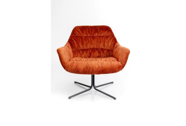 Kare Design Drehsessel Bristol Rost Rot
