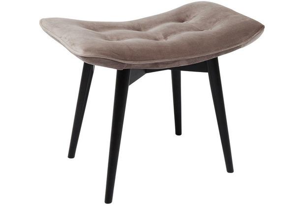 Kare Design Hocker Black Vicky Velvet grau