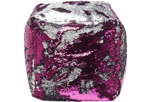 Kare Design Hocker Disco Queen Pink/Silber