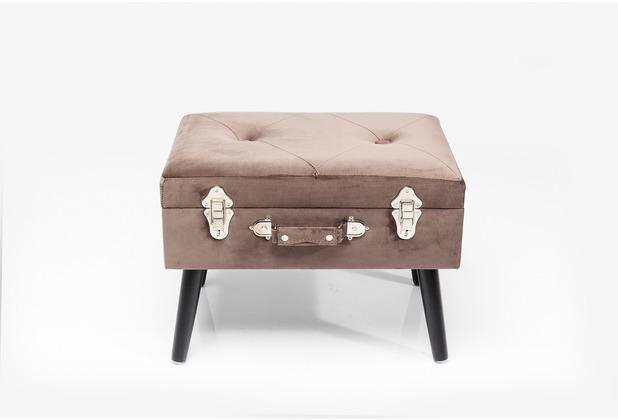 Kare Design Hocker Suitcase Grau