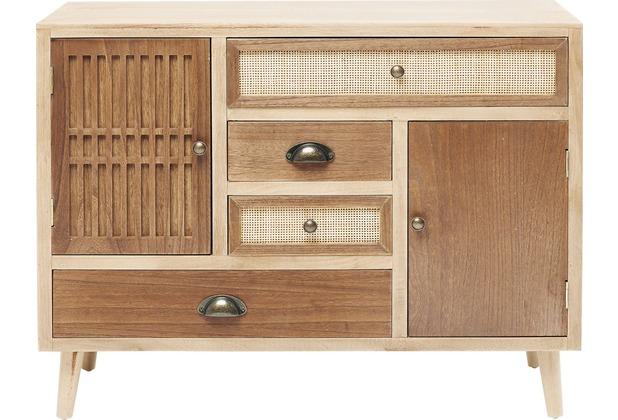 Kare Design Kommode Samos 4 Schub 2 Türen 90 cm