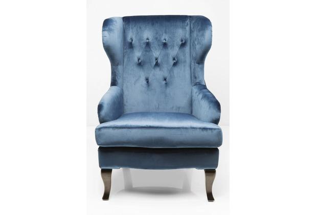 Kare Design Ohrensessel Vintage Blau Hertiede