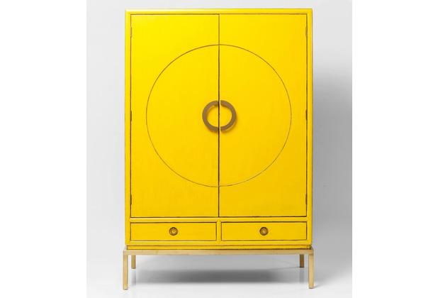 Kare Design Kleiderschrank Disk Yellow