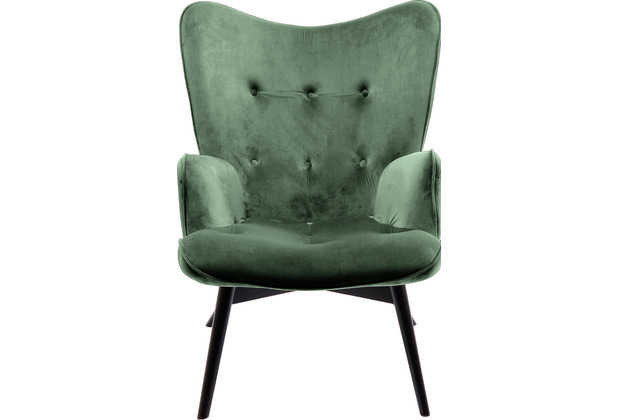 Kare Design Sessel Black Vicky Dark Green