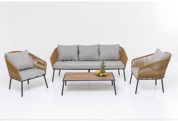 Kare Design Sitzgruppe Elba (4-Tlg.) Gartenlounge Gartenmöbel-Set