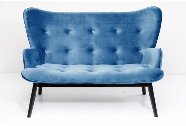 Kare Design Sofa Black Vicky Velvet Petrol